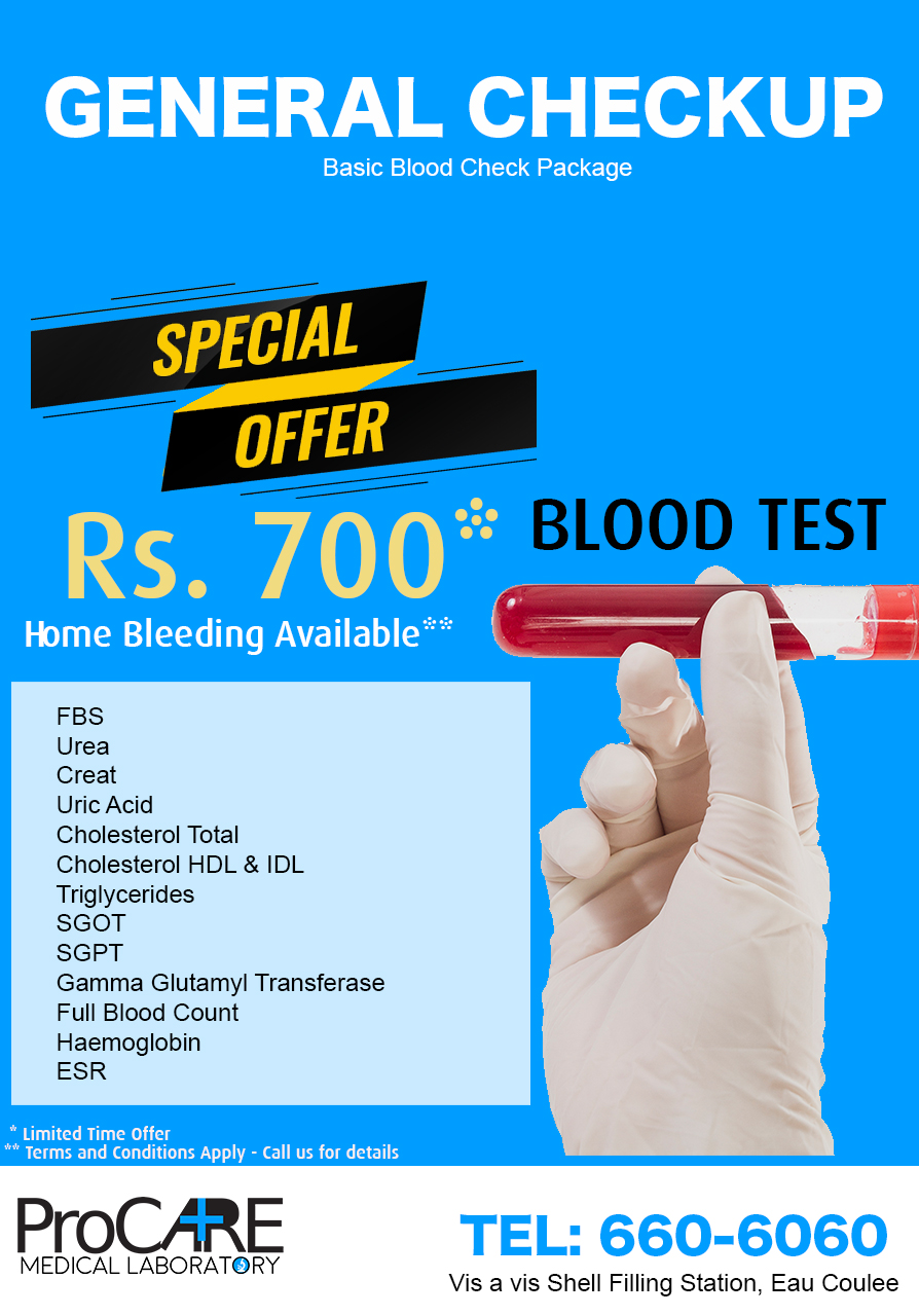 Discounted General Checkup – From ProCare Medical Laboratory